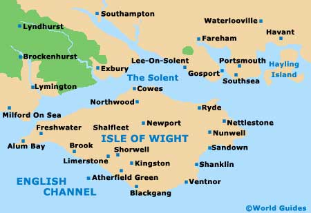 Isle Of Wight Directions Map - Map of iow